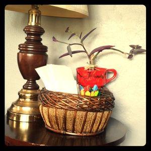 Decorative, woven, chunky, wicker basket